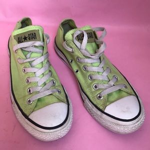 Lemon green All Star Converse lace up sneakers